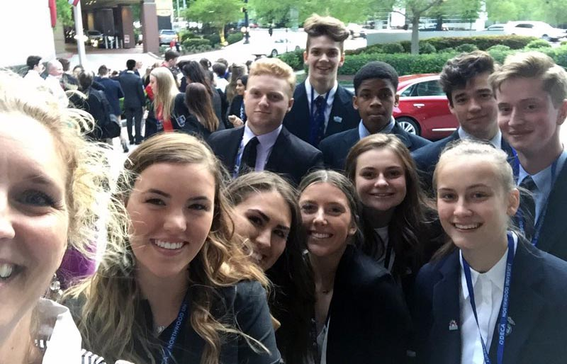 DECA Represents at International Conference