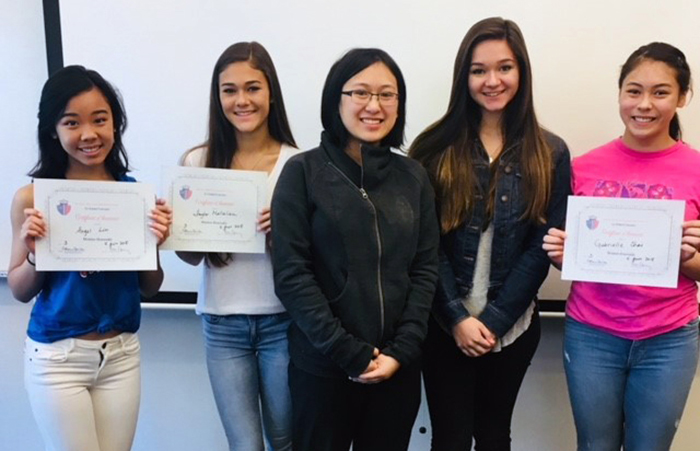 Students Honored in National French Contest