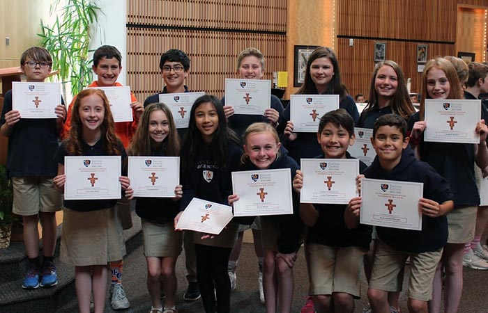 Middle School Fourth Quarter Touchstone Awards