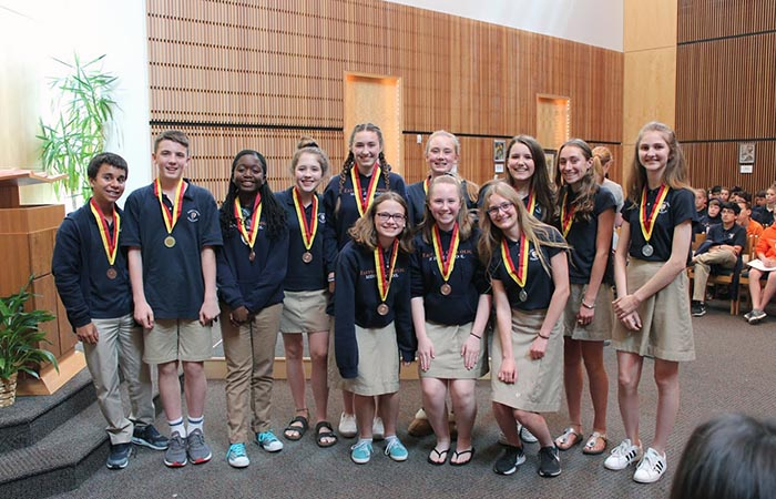 Middle School Students Receive National Recognition for Spanish Examinations