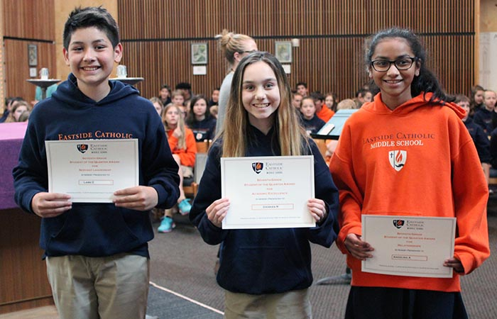 Middle School Third Quarter Touchstone Awards 2018-19