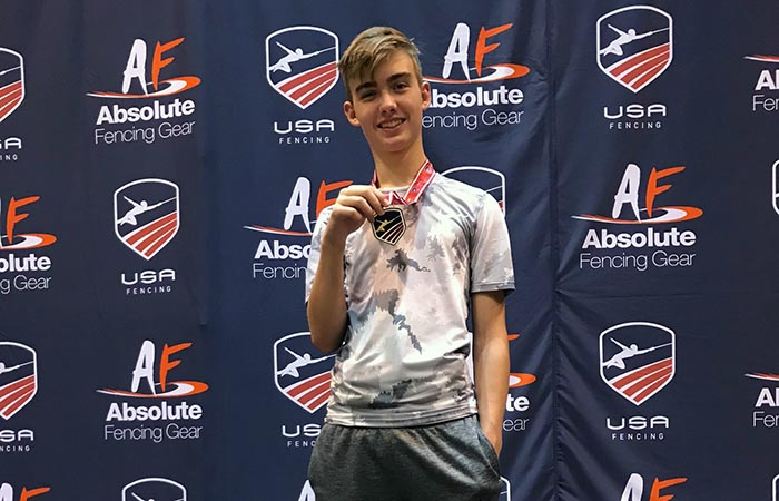 Junior Student Earns Fencing Gold Medal