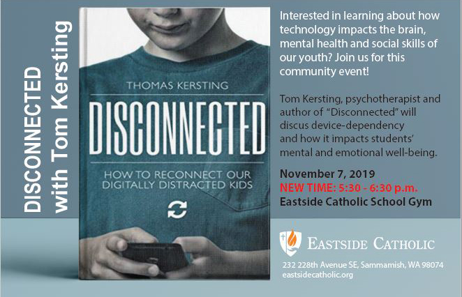 "Join Us on Nov. 7 for a Discussion About ""Disconnected"""