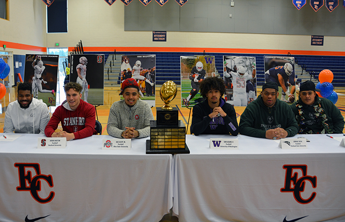 Six Football Student-Athletes Sign National Letters of Intent